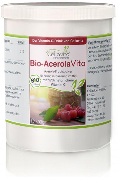 Acerola Vita (Der Vitamin-C-Drink) 500g -11 Monatsvorrat-
