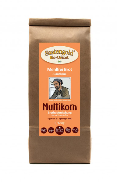 Mehlfreibrot Multikorn -Ganzkorn- Bio Brotbackmischung 600g