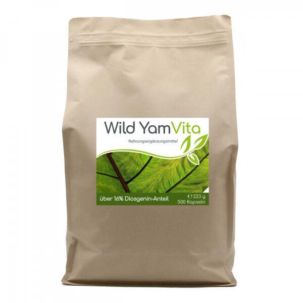 Wild Yam Vita (Yamswurzel) 500 Kapseln im Vorratsbeutel