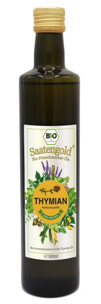 Saatengold-Bio-Feinschmecker-Öle Thymian 500ml