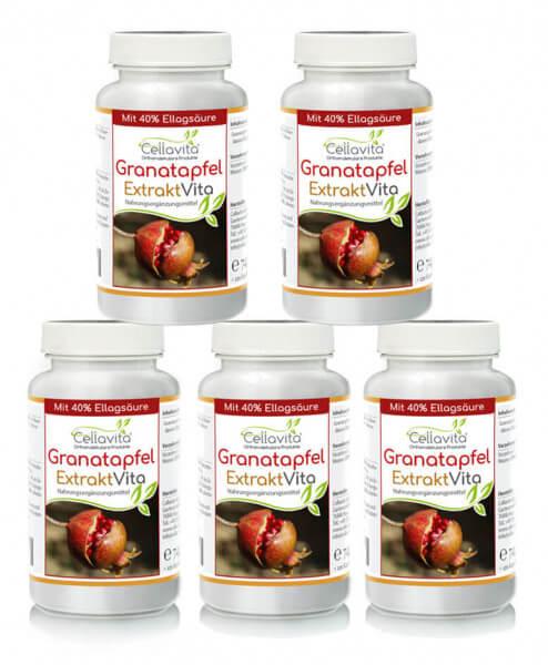 Granatapfel Extrakt Vita mit 40% Ellagsäure 5x 120 Kapseln Vorteilspaket