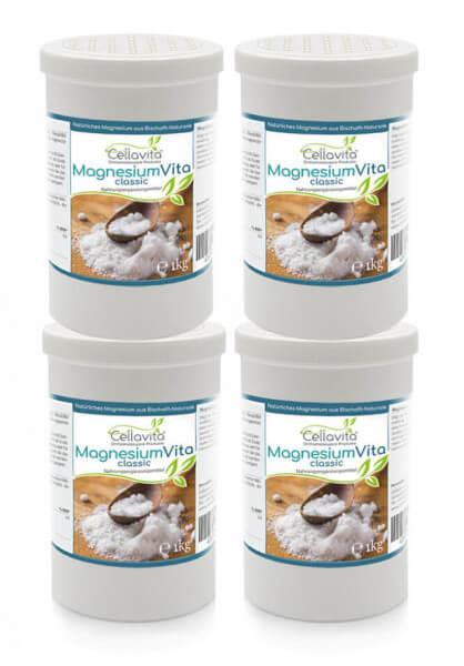Magnesium Vita 'classic' (100%) Vorteilspaket 4 x 1kg