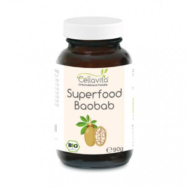 Superfood Baobab bio Pulver 90g im Glas