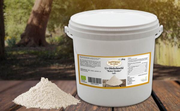 Ur-Dinkel-Mehl hell T-630 (Bio) 5kg Eimer