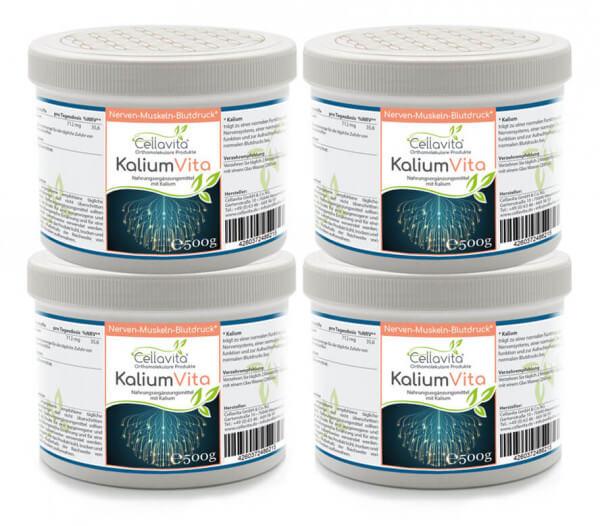Kalium Vita (Nerven-Muskeln-Blutdruck) 4x 500g Pulver (Vorteilspaket)