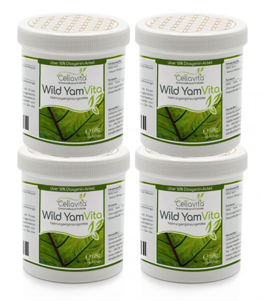 Wild Yam Vita (Yamswurzel) 600 Kapseln Vorteilspaket