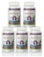 Jod Natur Vita - Vorteilspaket - 5 x 120 Kapseln | Rezeptur nach Dr. med. M. Doepp