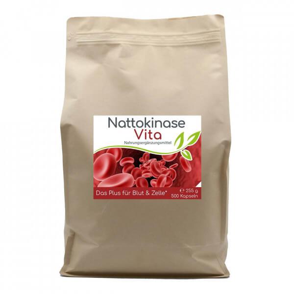 Nattokinase Vita (Das Plus für Blut & Zelle) 500 Kapseln Vorratsbeutel