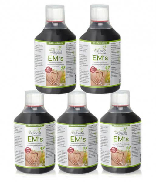 Effektive Mikroorganismen EM´s - 500ml Vorratspaket 5 x 500ml (24 Bakterienkulturen)