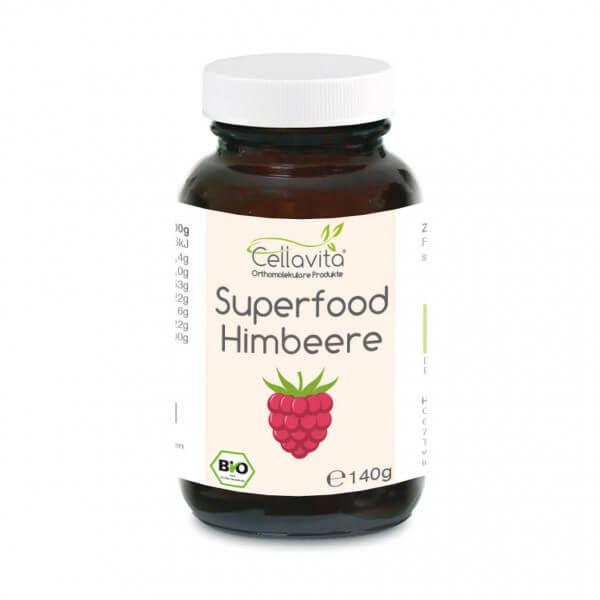 Superfood Himbeere bio Pulver 140g im Glas