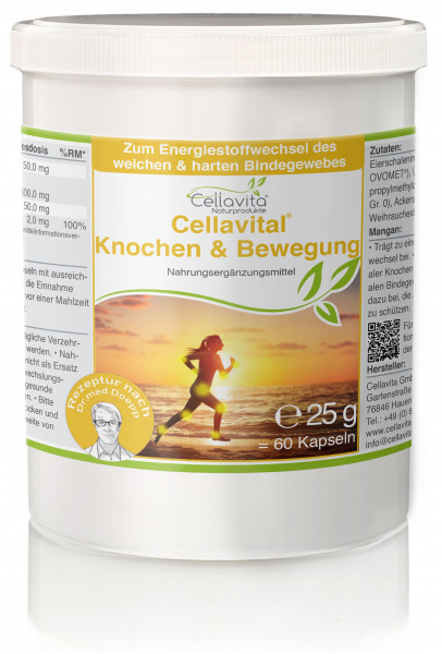 Cellavital® Knochen & Bewegung - Monatsvorrat - 60 Kapseln | Rezeptur nach Dr. med. M. Doepp