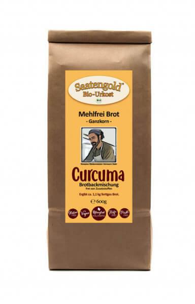 Mehlfreibrot Curcuma -Ganzkorn- Bio Brotbackmischung 600g