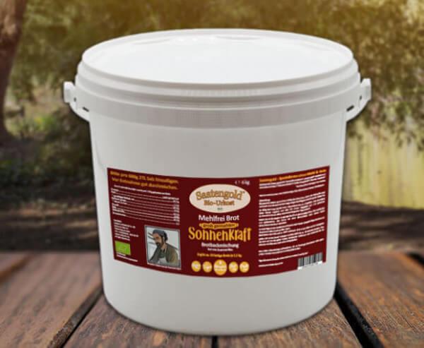 Mehlfreibrot Sonnenkraft -grob gemahlen- Bio Brotbackmischung 6 kg Eimer