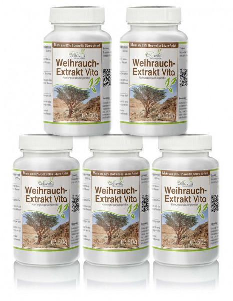 Weihrauch-Extrakt Vita   5 x 50g Pulver Vorteilspaket