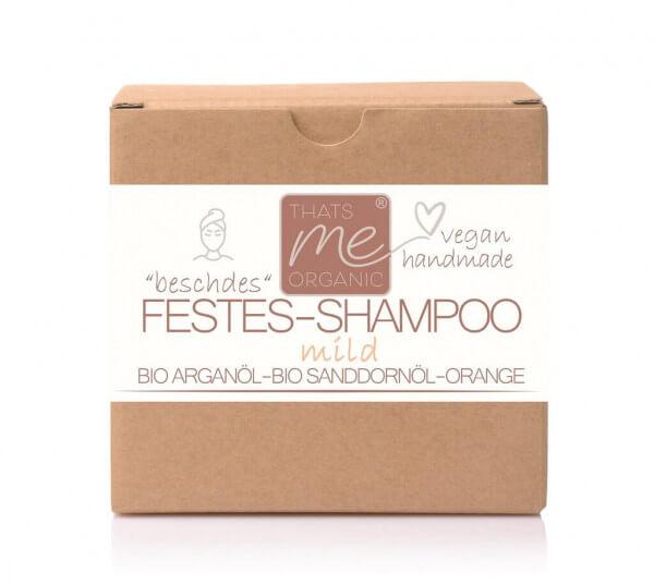 """Veganes festes Shampoo """"mild"""" für normales & feines Haar 40g Handmade"""