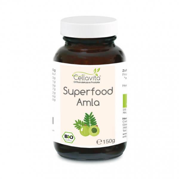 Superfood Amla bio Pulver 150g im Glas