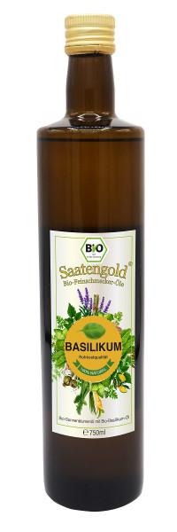 Saatengold-Bio-Feinschmecker-Öle Basilikum 750ml