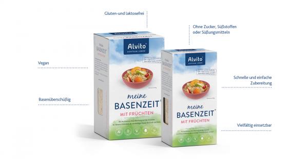 Alvito meine BasenZeit® Das gesunde Frühstück für den basischen Alltag: 800g