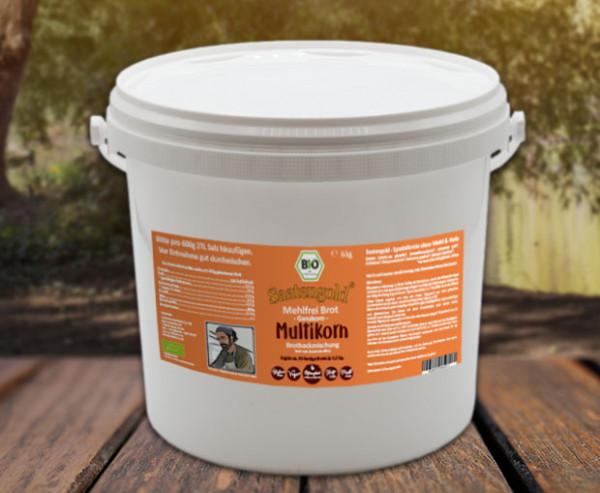 Mehlfreibrot Multikorn -Ganzkorn- Bio Brotbackmischung 6 kg Eimer (Vorteilspackung)