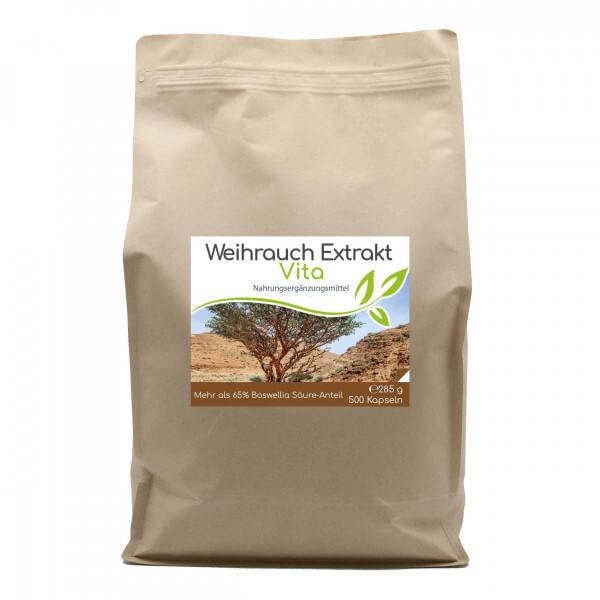Weihrauch-Extrakt Vita   500 Kapseln im Vorratsbeutel (>65% Boswellia-Säuren-Anteil)