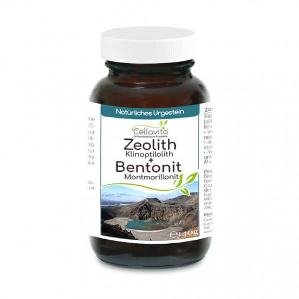 Premium Zeolith + Bentonit 140g Pulver im Glas