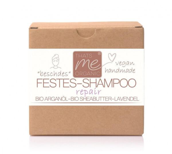 """Veganes festes Shampoo """"repair"""" für trockenes, lockiges & strapaziertes Haar 40g Handmade"""