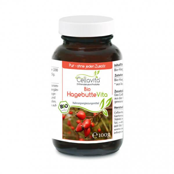 Bio Hagebutte Vita - 100g Pulver (vegan) im Glas