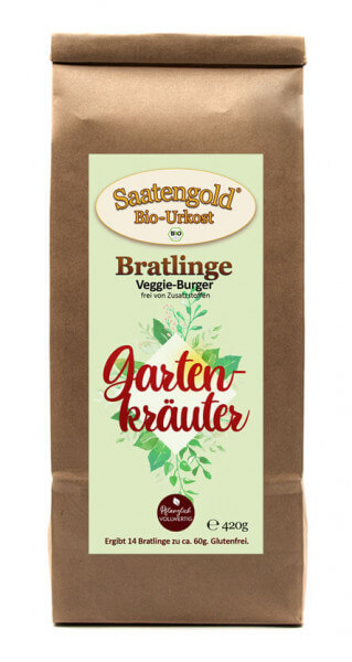 "Bratlinge - Veggieburger ""Gartenkräuter"" für 14 Bratlinge"