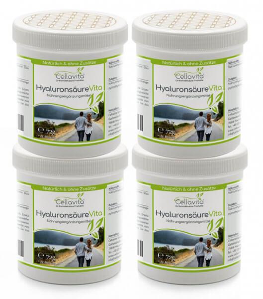 Hyaluronsäure Vita 4x 180 Kapseln (720 Kapseln Vorsorge) (Vegan)