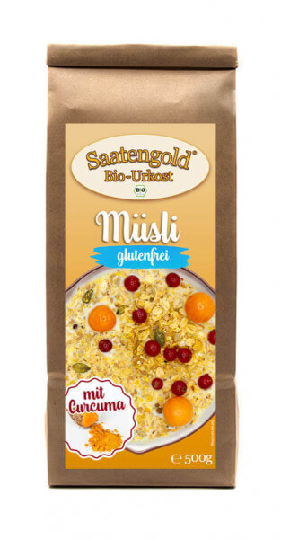 Saatengold® - Bio Müsli mit Curcuma - glutenfrei & vegan - 500g