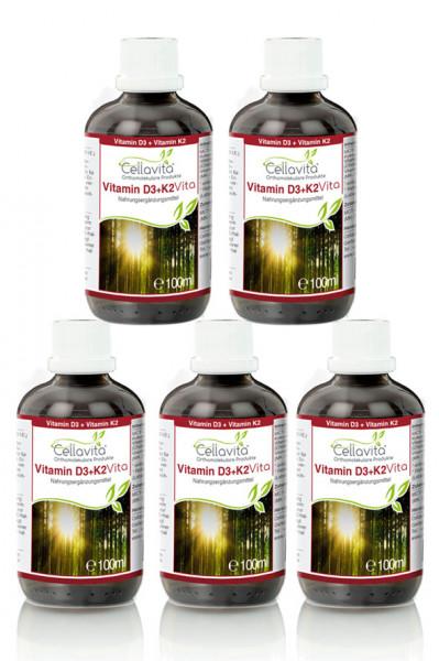 Vitamin D3 mit K2 Vita Vorteilspaket 5 x 100ml
