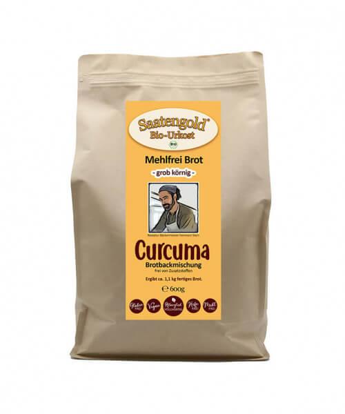 Mehlfreibrot Curcuma -grob körnig- Bio Brotbackmischung 600g