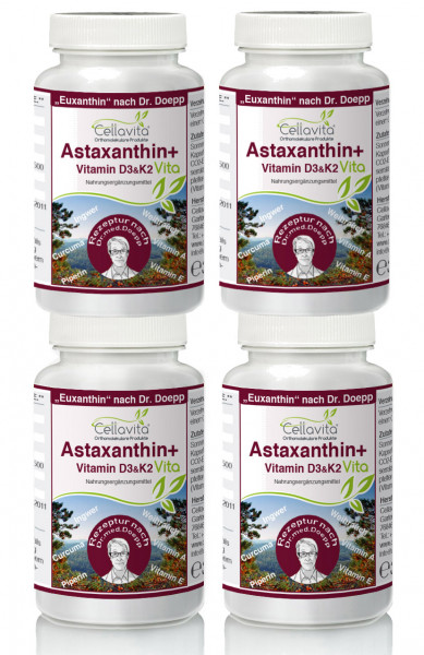 Astaxanthin Vita | Rezeptur nach Dr. med. M. Doepp 4x 60 Kapseln Vorteilspaket