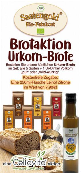 AKTION: Brotaktion Urkorn-Brote MILD WÜRZIG mit kostenfreier Zugabe