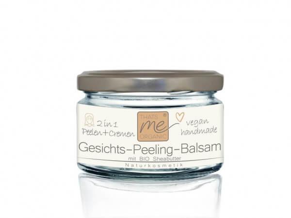 Veganes Gesichts-Peeling-Balsam Bio 2 in 1 mit Sheabutter 50ml Naturkosmetik - ohne künstliche Duftstoffe