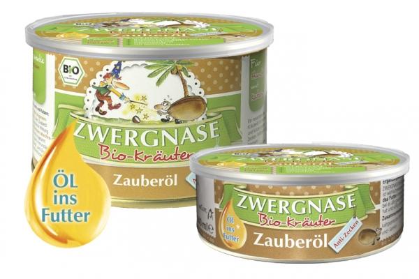 """Zwergnase Zauberöl """"Anti-Zecken"""" (zeckenabwehrendes Futteröl) für Hunde & Katzen BIO, 140g"""