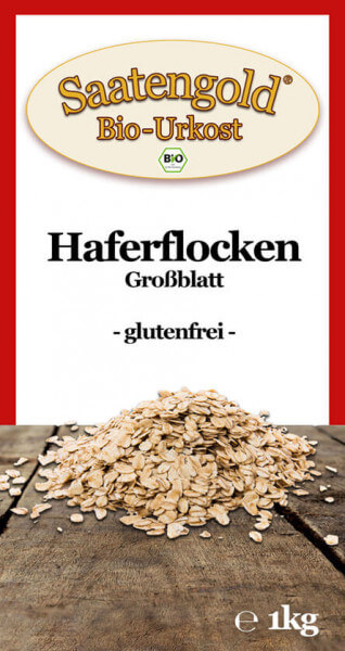 Bio-Haferflocken glutenfrei Großblatt 1kg
