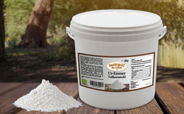Emmer Vollkornmehl (Bio) 5kg Eimer