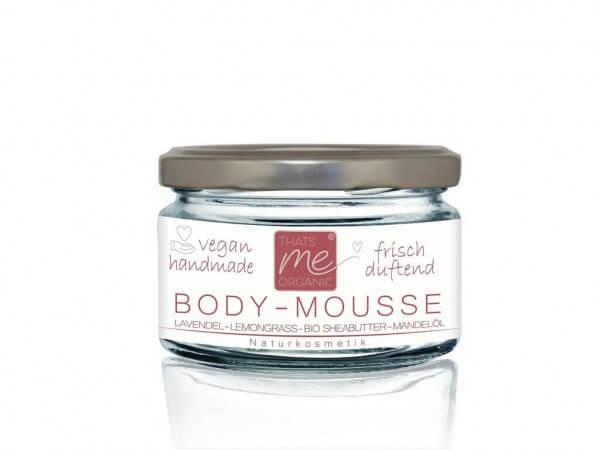 Veganes Body-Mousse Körperbutter Lavendel-Lemongrass 100ml Naturkosmetik