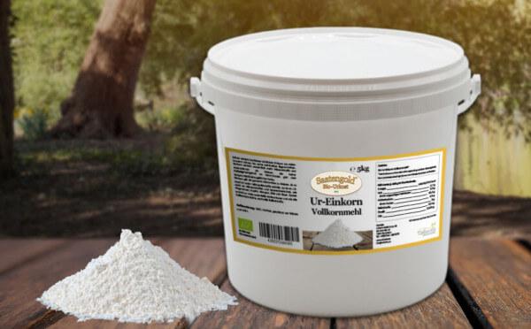 Einkorn Vollkornmehl (Bio) 5kg Eimer