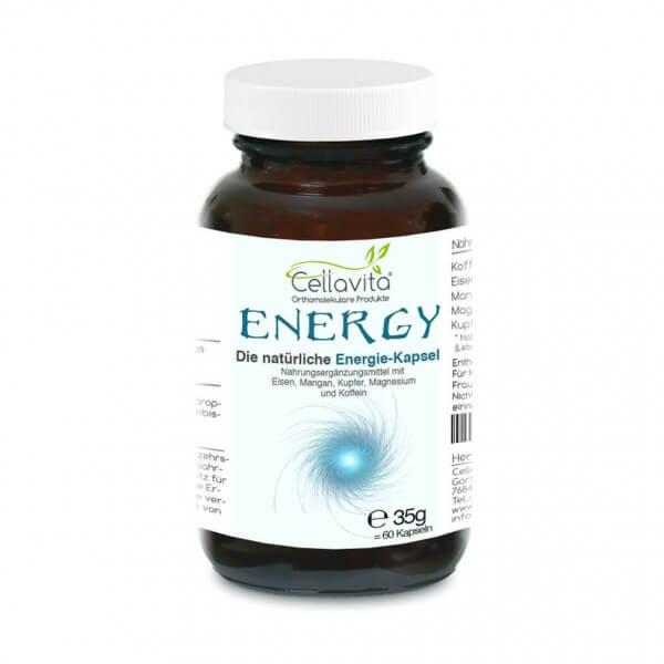 Energy - Die natürliche Energie-Kapsel | 60 Kapseln im Glas