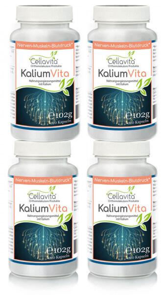 Kalium Vita (Nerven-Muskeln-Blutdruck) 4x 120 Kapseln (Vorteilspaket)