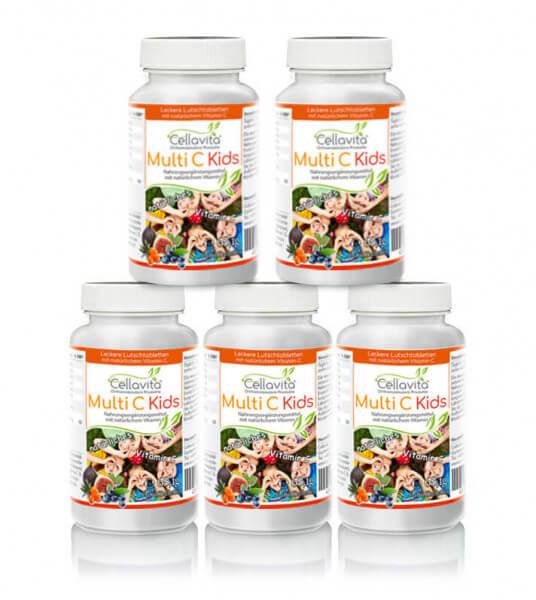 Multi C kids Vorteilspaket für Kinder 5 x 180 Tabletten