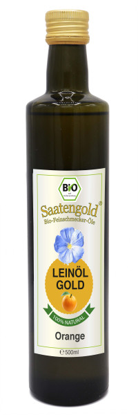 "Saatengold-Bio-Feinschmecker-Öle ""Leinöl Orange"" 500ml"