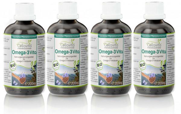Omega-3 Vita (Bio) Pflanzenkonzentrat Vorteilspaket 4x 200ml