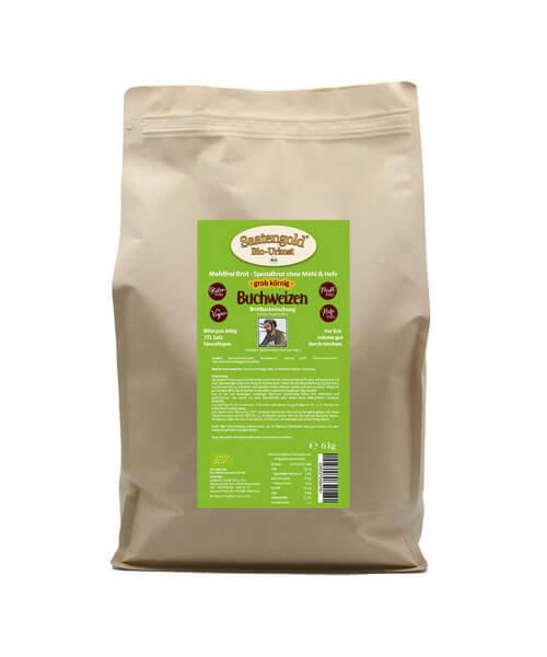 Mehlfreibrot Buchweizen -grob körnig- Bio Brotbackmischung 6 kg Beutel (Vorteilspackung)