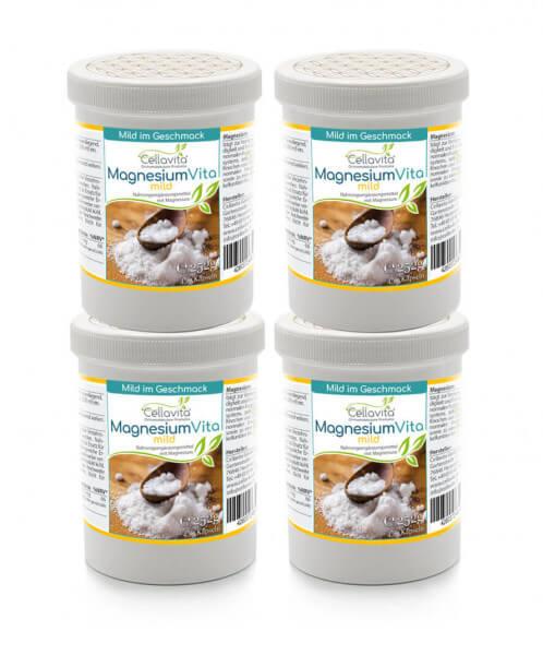 Magnesiumcitrat Vita 'mild' | 4x 450 Kapseln Vorteilspaket