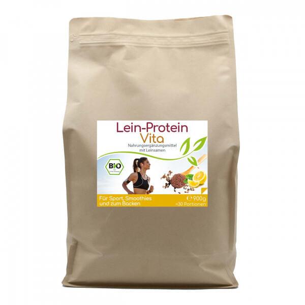 Lein-Protein Vita natürlicher Bio Proteinshake - 30 Portionen - 900g