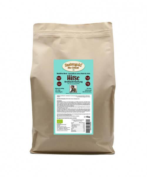 Mehlfreibrot Hirse - Bio Brotbackmischung im 6kg Vorrats-Eimer/Beutel