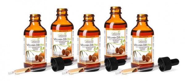 Vitamin D3 Vita 5x 50ml (1 Tropfen = 1.000 IE) hochdosiert Vorteilspaket